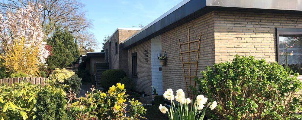 Verkauft! Reihenmittel-Wohnung mit Garten und Garage